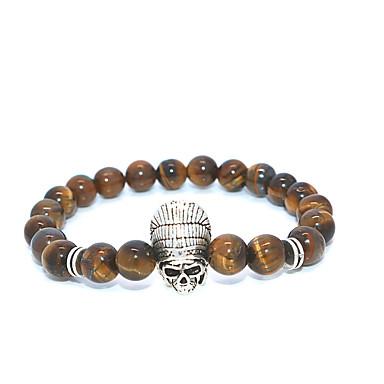 abordables Bracelet-Bracelet à Perles Homme Femme Classique Masque Décontracté / Sport Bracelet Bijoux Blanche Dorée pour Plein Air