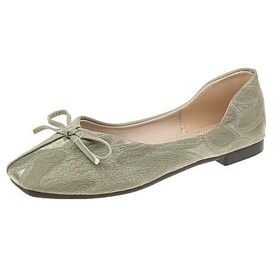 Kadın's Mokasen & Bağcıksız Ayakkabılar Düşük Topuk PU İlkbahar & Kış Yeşil / Pembe