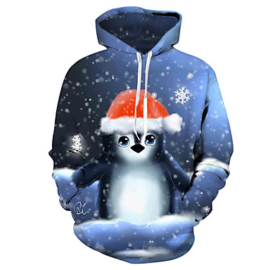 cheap Boys' Hoodies & Sweatshirts-Kids Toddler Boys' Active Basic Santa Claus Snowman Geometric Galaxy Print Print Long Sleeve Hoodie & Sweatshirt Blue