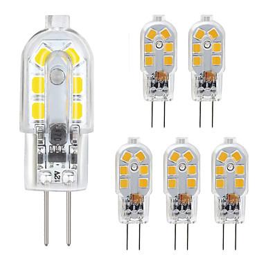 abordables Ampoules électriques-zdm g4 led pack 6 pack 2.5w led bi-goupille base g4 10-20w remplacement de l'ampoule halogène blanc chaud / blanc froid ac220v