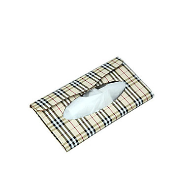 voordelige Auto-interieur accessoires-230 * 115 * 22mm zonneklep auto lederen tissue doos auto decoratie servethouder papieren handdoek doos modelstissue boxpack