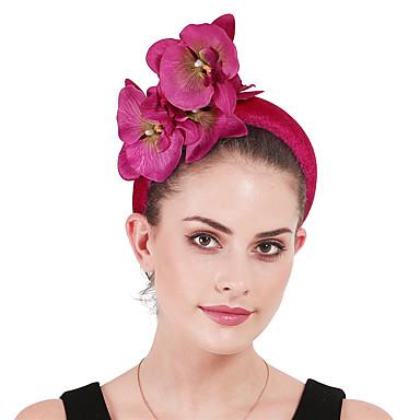 billige Hodeplagg til fest-Polyester / Polyamid pannebånd / fascinators / blomster med Blomster / Blomst 1 Fest / aften / Kentucky Derby Hodeplagg