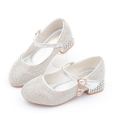 baratos Sapatos de Criança-Para Meninas Microfibra Saltos Little Kids (4-7 anos) Sapatos para Daminhas de Honra Gliter com Brilho Rosa claro / Prateado Outono