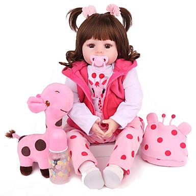 billige Leker og hobbyartikler-NPK DOLL Reborn-dukker Reborn Toddler Doll Babyjenter 22 tommers Verneutstyr Gave Søtt Barne Unisex Leketøy Gave