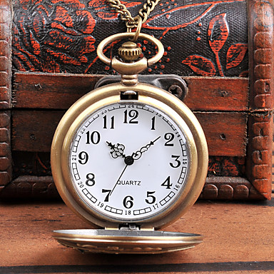 baratos Relógio de Bolso-Homens Relógio de Bolso Quartzo Estilo vintage Criativo Novo Design Legal Analógico-Digital Vintage - Bronze