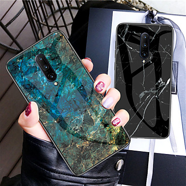 cheap Marble Case-Shockproof Marble Tempered Glass TPU Frame Case for One Plus 7 Pro One plus 7 One Plus 6T Oneplus 6