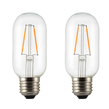 1set 2 W LED Filaman Ampuller 300 lm E26 / E27 T45 2 LED Boncuklar Sıcak Beyaz 220 V