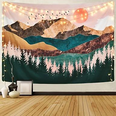 halpa Seinäkoristeet-Puutarha-teema / Bohemian Teema Wall Decor 100% polyesteri Moderni Wall Art, Seinävaatteet Koriste