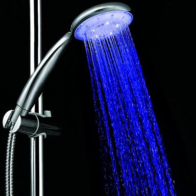 3-color sıcaklığa duyarlı led renk değiştiren el duşu