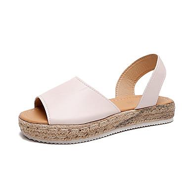 Kadın's Sandaletler Creepers Burnu Açık PU Günlük Yürüyüş İlkbahar yaz / Sonbahar Kış Siyah / Mavi / Pembe