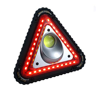 billige Lommelykter & campinglykter-Led Lys Nødlys LED LED emittere 750-1200 lm Automatisk lys tilstand med batteri og USB-kabel Bærbar Vindtett Holdbar Camping / Vandring / Grotte Udforskning Fisking Hvit Lyskilde Farge Svart / Rød