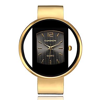 baratos Relógios Homem-Mulheres Relógios de Quartzo Rígida Fashion Prata Dourada Lega Chinês Quartzo Preto Branco Dourado Cronógrafo Criativo Novo Design 30 m 1 Pça. Analógico Dois anos Ciclo de Vida da Bateria
