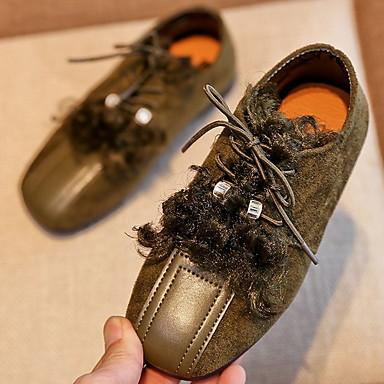 baratos Sapatos de Criança-Para Meninas Microfibra Oxfords Little Kids (4-7 anos) Conforto Verde / Rosa claro / Khaki Verão