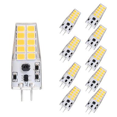 10pcs 5 W LED Mısır Işıklar LED Bi-pin Işıklar 300 lm G4 T 20 LED Boncuklar SMD 2835 Sıcak Beyaz Beyaz 12 V