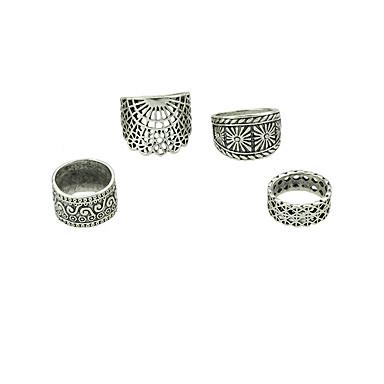 billige Motering-Dame Ring Set 4stk Gull / Sølv Legering Stilfull / Unikt design / Mote Gave / Daglig / Gate Kostyme smykker
