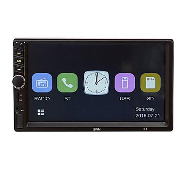 voordelige Automatisch Electronica-x1 7 inch auto mp5 speler 12v fm radio bt aux usb met stuurwielcontroller kleurrijk hd capacitief scherm