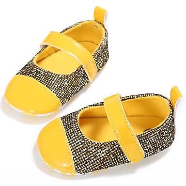baratos Sapatos de Criança-Para Meninas Couro Ecológico Rasos Crianças (0-9m) / Criança (9m-4ys) Primeiros Passos Fúcsia / Amarelo / Azul Primavera / Verão