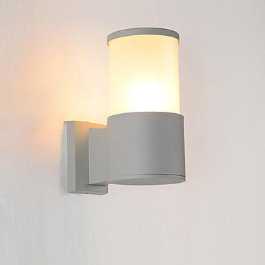 Tek aplik cylindar ışıkları su geçirmez gömme montaj duvar ışıkları / açık duvar ışıkları açık / bahçe metal duvar ışık ip 65
