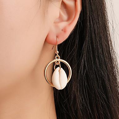 abordables Boucle d'Oreille-Femme Boucles d'Oreille Géométrique Coquillage Coquillage Des boucles d'oreilles Bijoux Dorée Pour Plein Air 1 paire
