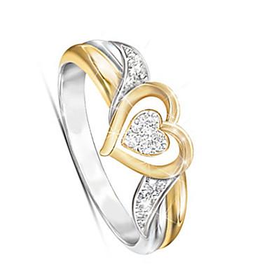 billige Motering-Dame Ring 1pc Gull Legering Klassisk / Koreansk / Mote Daglig / Skole / Gate Kostyme smykker / Hjerte