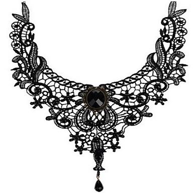abordables Collier-Collier Col Claudine Femme Noir 30 cm Colliers Tendance Bijoux 1pc pour Quotidien
