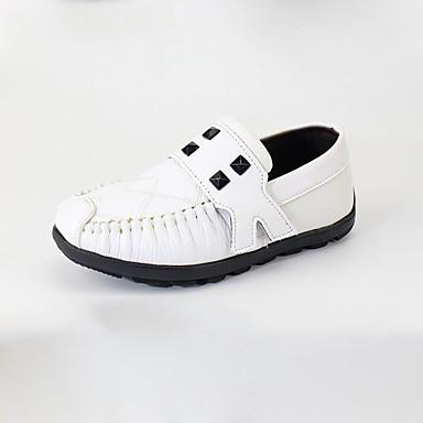 baratos Sapatos de Criança-Para Meninos Microfibra Mocassins e Slip-Ons Little Kids (4-7 anos) Mocassim Branco / Azul Verão
