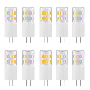 abordables Ampoules électriques-10pcs 3 W LED à Double Broches 300 lm G4 T 31 Perles LED SMD 4014 Design nouveau Blanc Chaud Blanc 220-240 V