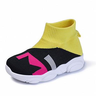 povoljno Cipele za djevojčice-Djevojčice Pletivo / Elastična tkanina Sneakers Mala djeca (4-7s) / Velika djeca (7 godina +) Udobne cipele Bijela / Crvena / Plava Ljeto / Jesen