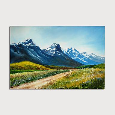 Hang oslikana uljanim bojama Ručno oslikana - Sažetak Pejzaž Moderna Bez unutrašnje Frame
