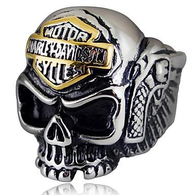 voordelige Herensieraden-Heren Ring 1pc Zilver Legering Onregelmatig Vintage Etnisch Gothic Dagelijks Sieraden Vintagestijl Schedel
