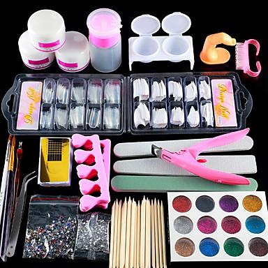 billige Neglepleie og Lakk-1set Glimmer Nail Art Tool Nail Art Kit Til Fingernegl Tånegl Multifunksjonell Neglekunst Manikyr pedikyr Chic & Moderne / trendy / Fransk Tips Guide