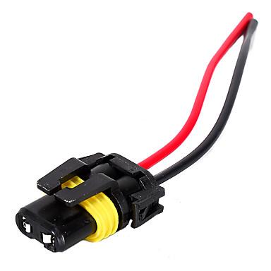 voordelige Automatisch Electronica-2 stks 9005/9006 vrouwelijke verlenging kabelboom sockets draden adapter met lijn