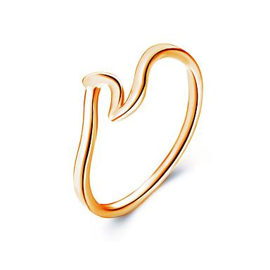 levne Fashion Ring-Dámské Prsten 1ks Růžové zlato / Zlatá / Stříbrná Slitina Jednoduchý / korejština / Módní Denní / Práce Kostýmní šperky