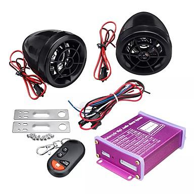 voordelige Automatisch Electronica-12v anti-diefstal motorfiets alarmsysteem mp3 fm sd usb afstandsbediening motor start2 claxons