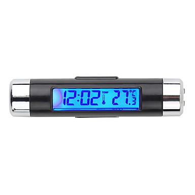 voordelige Auto-interieur accessoires-auto elektronische klok thermometer auto lichtgevende klok luchtuitlaat temperatuurmeter twee-in-één benodigdheden clip k01