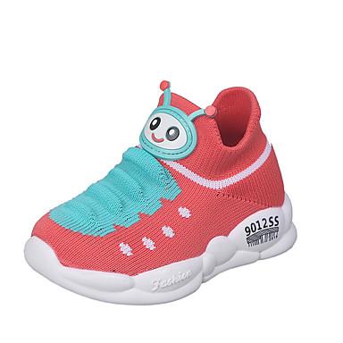 זול לגילאים 0-9.-בנים / בנות Flyknit נעלי ספורט תינוקות (0-9m) / פעוט (9m-4ys) נוחות / צעדים ראשונים אדום / כחול / ורוד אביב / סתיו
