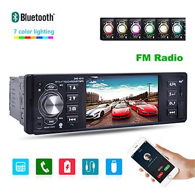 voordelige Automatisch Electronica-4019b 4,1 inch 1 din autoradio auto audio stereo auto multimedia speler bluetooth ondersteuning achteruitrijcamera usb stuurwiel afstandsbediening