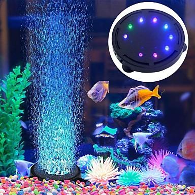 billige Tilbehør til fisk og akvarium-Akvarium Dekorasjon Led Lys Luftpumper Pyntegjenstander Multifarget Plast Energisparing Lydløs 220 V 1pc / #