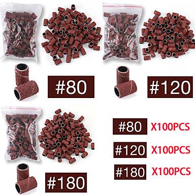 voordelige Nagelgereedschap & Apparatuur-100 stks nail art schuurbanden set voor nagelboormachine bits manicure pedicure