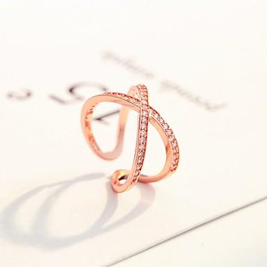 voordelige Herensieraden-Heren Dames Ring 1pc Zilver Goud Rose Koper Cirkelvormig Standaard Koreaans Modieus Lahja Sieraden