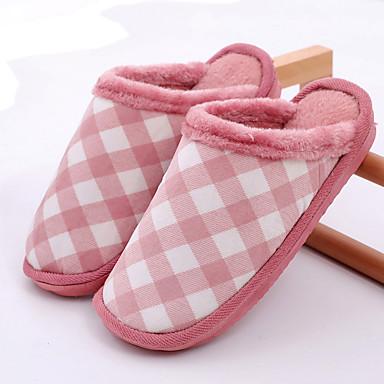 voordelige Damespantoffels & slippers-Dames Slippers & Flip-Flops Platte hak Ronde Teen Elastische stof Informeel Winter Fuchsia / Roze