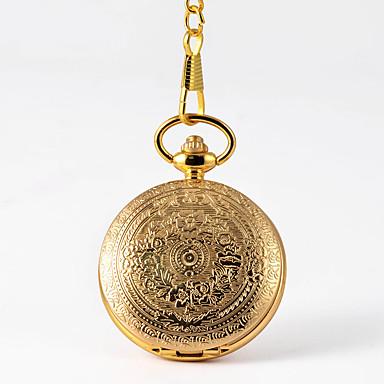 baratos Relógio de Bolso-Homens Relógio de Bolso Quartzo Estilo vintage Dourada Criativo Novo Design Relógio Casual Analógico-Digital Vintage - Dourado