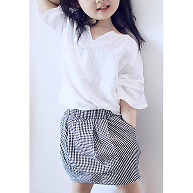 levne Sady oblečení-Děti Dívčí Základní Barevné bloky Tisk 3/4 délka rukávu Sady oblečení Bílá