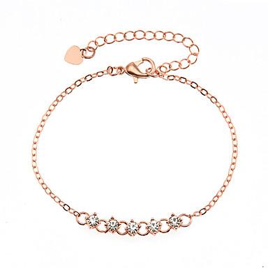 voordelige Dames Sieraden-Dames Zirkonia Armband Tweekleurig Verticaal Modieus Legering Armband sieraden Goud Rose / Goud / Zilver Voor Lahja Dagelijks Festival
