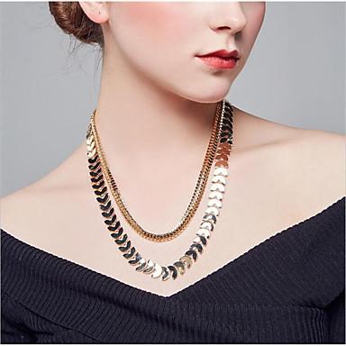 voordelige Dames Sieraden-Dames Kettingen meetkundig Bladvorm Modieus Kromi Goud Zilver 55 cm Kettingen Sieraden 1pc Voor Dagelijks Werk