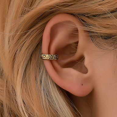 voordelige Dames Sieraden-Dames Clip oorbellen meetkundig Bloem oorbellen Sieraden Goud / Zilver Voor Feestdagen 1pc