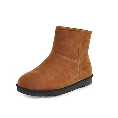 voordelige Dameslaarzen-Dames Laarzen Platte hak Ronde Teen Synthetisch Korte laarsjes / Enkellaarsjes Informeel / minimalisme Winter Zwart / Bruin / Luipaard