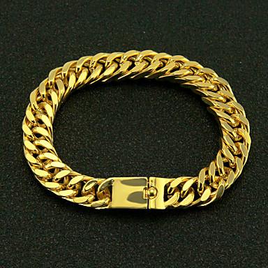 voordelige Herensieraden-Heren Armband CrossBody Twist Circle Punk Legering Armband sieraden Goud Voor Lahja Dagelijks