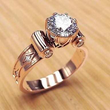 voordelige Dames Sieraden-Dames Ring 1pc Goud Rose Legering Onregelmatig Klassiek modieus Koreaans Lahja Dagelijks Sieraden Klassiek Lucky