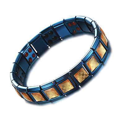 voordelige Herensieraden-Heren Oorbellen / armband Klassiek Lucky Luxe Klassiek modieus Koreaans Modieus Roestvast staal Armband sieraden Blauw Voor Lahja Dagelijks Feestdagen Festival